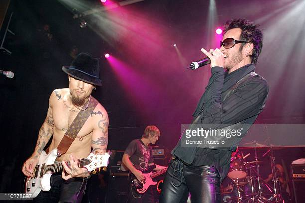 Dave Navarro Chris Chaney and Scott Weiland during Empire Ballroom Grand Opening Featuring Camp Freddy at Empire Ballroom in Las Vegas Nevada