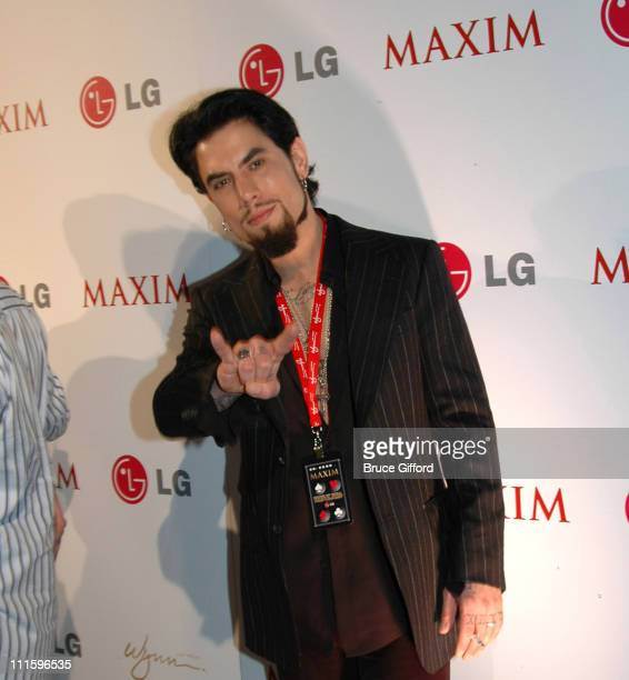 Dave Navarro during Maxim Hot 100 Rock and Roll Poker Tournament Inside and Arrivals at Wynn Las Vegas in Las Vegas Nevada United States