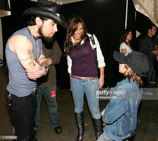 Dave Navarro Krista Allen and Jake Moritt during Sony Computer Entertainment America and the Bruce Willis Foundation Present Playstation BANDtogether...