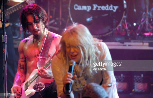 Dave Navarro of Camp Freddy with Courtney Love during Camp Freddy Benefit Concert for South East Asia Tsunami Relief at Key Club in Hollywood...