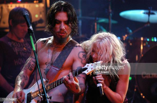 Dave Navarro of Camp Freddy with Terri Nunn during Camp Freddy Benefit Concert for South East Asia Tsunami Relief at Key Club in Hollywood California...