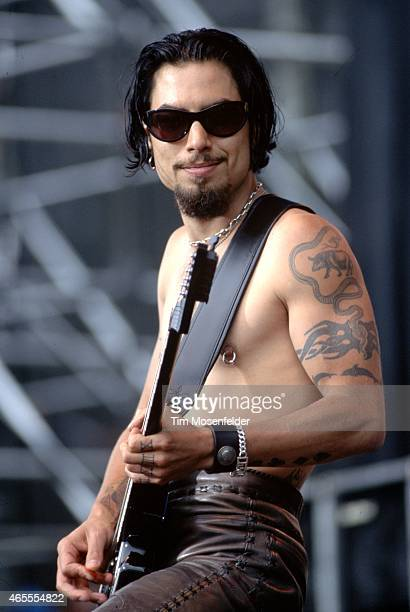 Dave Navarro of the Red Hot Chili Peppers performs at the Tibetan Freedom Concert at Golden Gate Park on June 15 1996 in San Francisco California