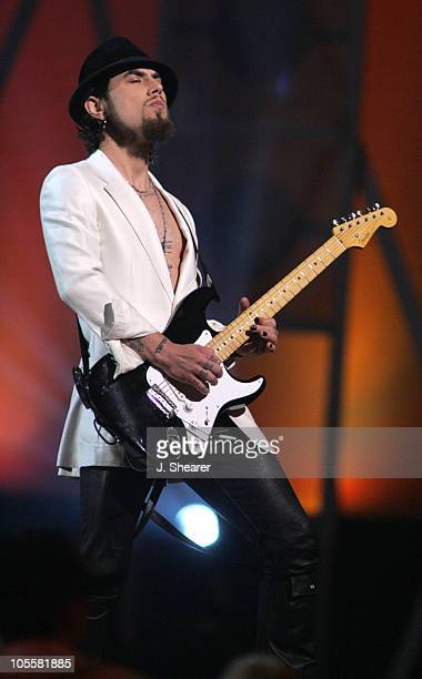 Dave Navarro performs Bad Girl during 2004 Billboard Music Awards Show at MGM Grand Garden in Las Vegas Nevada United States