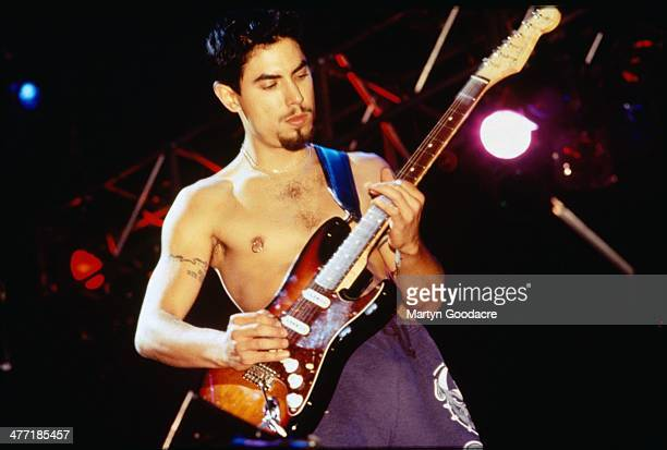 Dave Navarro performs on stage with The Red Hot Chill Peppers United Kingdom 1993