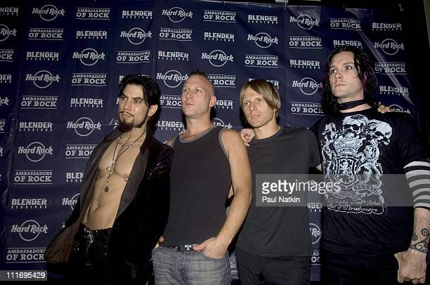 Dave Navarro Stephen Perkins Chris Chaney and Steve Isaacs of The Panic Channel
