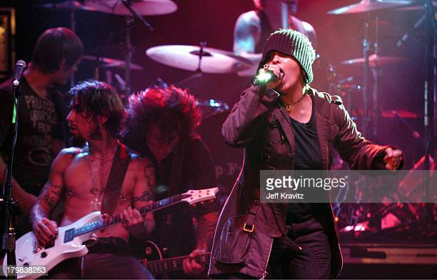 Dave Navarro Steve Stevens and Linda Perry during Camp Freddy Benefit Concert for South East Asia Tsunami Relief at Key Club in Hollywood California...