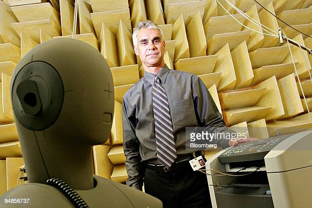 Dave Novak operations manager for HewlettPackard's LaserJet Hardware division poses in a company acoustic lab in Boise Idaho Tuesday June 28 2005...