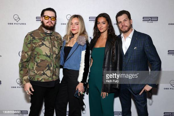 """Dave Osokow, Caryn Mueller, Taylor Satterlee and Ben Dicker attend the OBB Premiere Event for YouTube Originals Docuseries """"Demi Lovato: Dancing With..."""