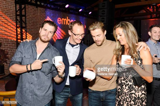 Dave Osokow Clay Alexander Derek Hough and Holland Alexander at Ember Celebrates VIP Launch Event with Iggy Azalea on November 8 2017 in Los Angeles...