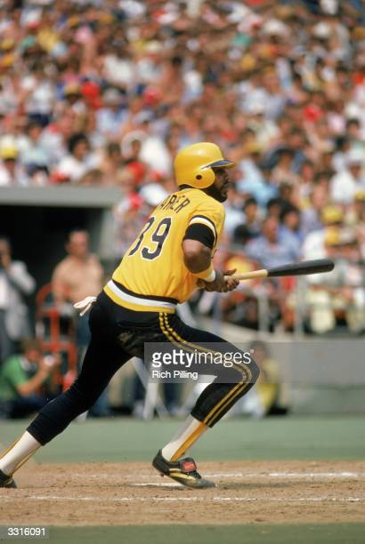 Dave Parker of the Pittsburgh Pirates at bat circa 19731983 at Three Rivers Stadium in Pittsburgh Pennsylvania