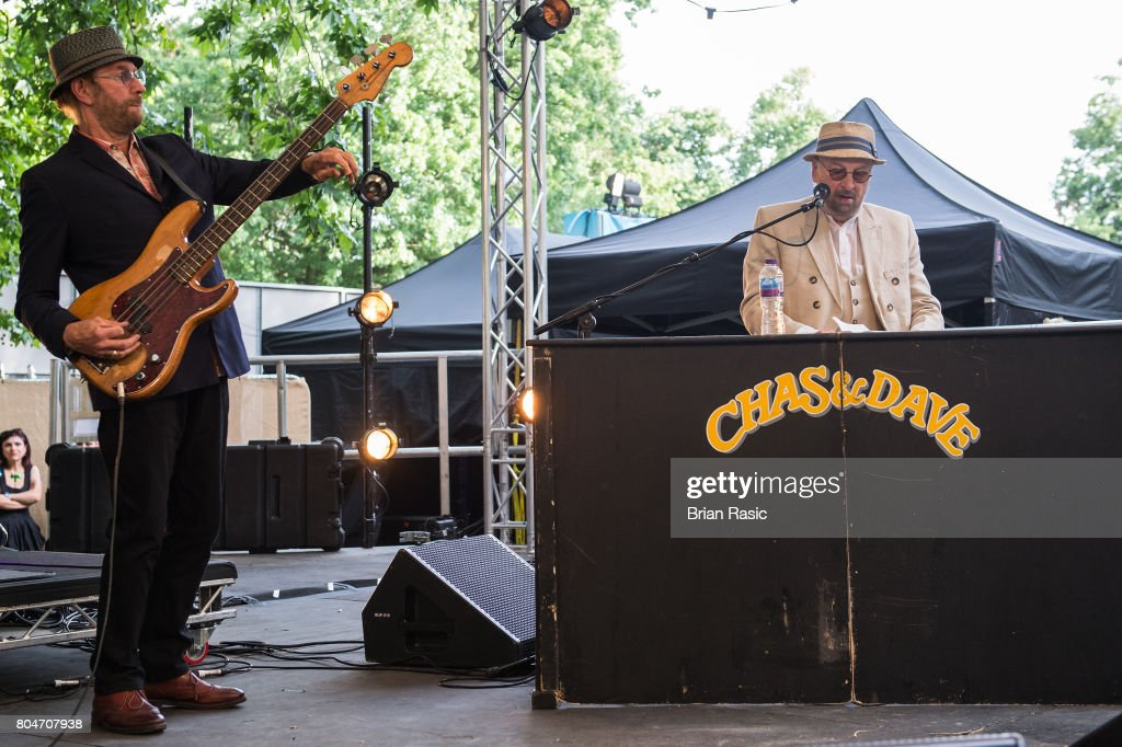 Dave Peacock (L) and Chas Hodges of Chas & Dave perform on stage at Barclaycard British Summertime at Hyde Park on June 30, 2017 in London, England.