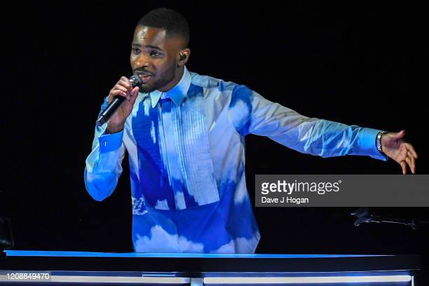 Dave performs live on stage during The BRIT Awards 2020 at The O2 Arena on February 18 2020 in London England