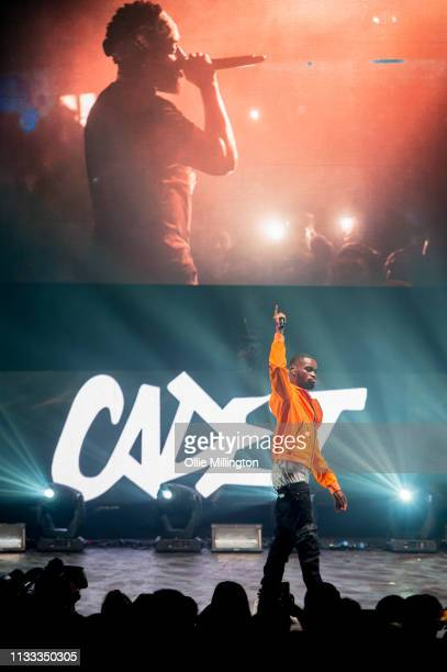 Dave performs on stage during GRM Daily Presents The Rated Legend Tribute Show In Memory Of Cadet at Brixton Academy on March 2 2019 in London England