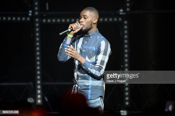 Dave performs onstage at UK Grime and Hip Hop the KA GRM Daily RATED AWARDS at legendary music venue The Roundhouse on October 24 2017 in London...
