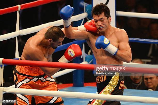 Dave Peterson of United States punches Dave Peterson of United States during the 8 rounds Middleweight division bout at Ryogoku Kokugikan on December...