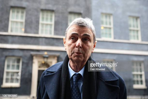Dave Prentis, General Secretary of UNISON, arrives at 10 Downing Street for talks with Prime Minister Theresa May on January 24, 2019 in London,...