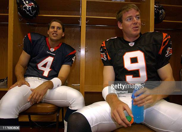 Dave Ragone, Houston and Carson Palmer, Bengals during Reebok NFL Players Rookie Premiere Presented by 989 Sports at LA Coliseum in Los Angeles,...