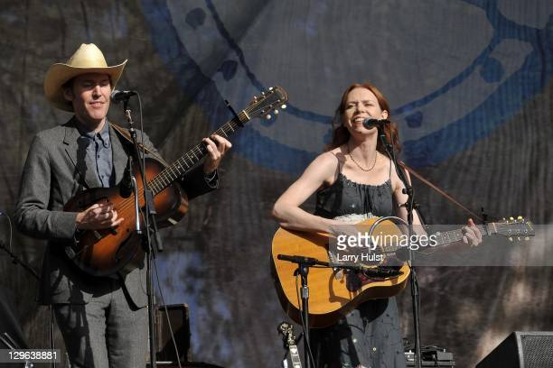 Dave Rawlings and Gillian Welch performing at the Hardly Strictly Bluegrass festival in Golden Gate Park in San Francisco on October 1 2011