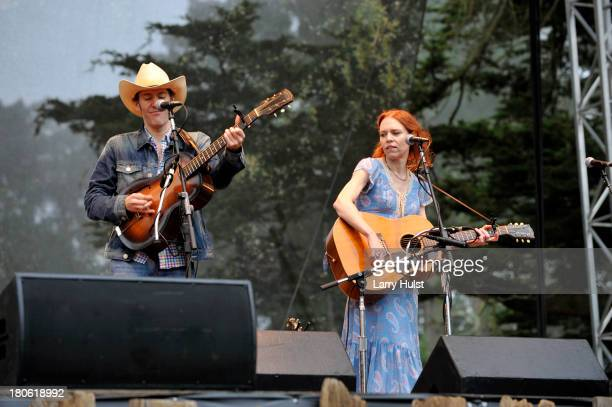 Dave Rawlings and Gillian Welch performs at The Hardly Strictly Bluegrass festival in Golden Gate Park in San Francisco California on September 30...