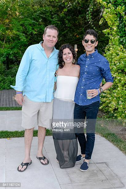 Dave Rice Holly Rice and Leo Rocha attend Boys Girls Club of the Bellport Area's 13th Annual Beach Ball at Private Residence on June 18 2016 in...