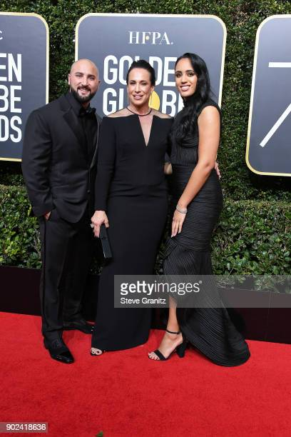 Dave Rienzi producer Dany Garcia and Golden Globe Ambassador Simone Garcia Johnson attend The 75th Annual Golden Globe Awards at The Beverly Hilton...