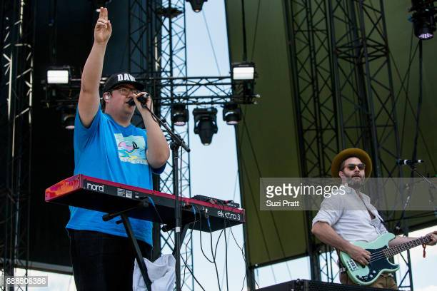 Dave Ritter of The Strumbellas performs at the Sasquatch Music Festival at Gorge Amphitheatre on May 26 2017 in George Washington