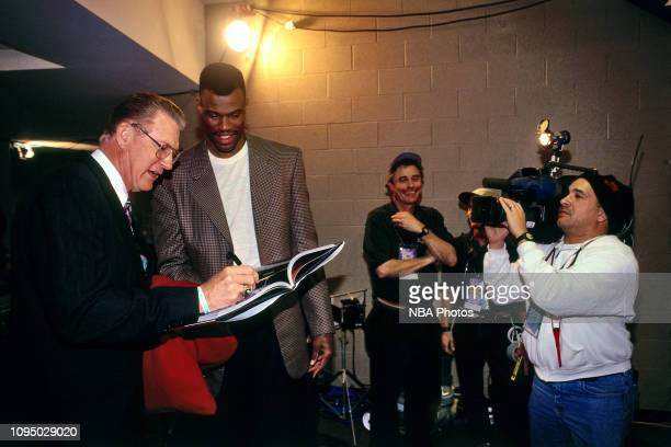 Dave Robinson is seen during the NBA at 50 Event on February 7 1997 as a part of NBA AllStar Weekend 1997 at the Gund Arena in Cleveland Ohio NOTE TO...
