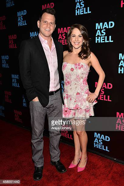 Dave Rubin and Ana Kasparian attend the The Young Turks Documentary 'Mad as Hell' Los Angeles Premiere at Harmony Gold Theatre on November 6 2014 in...