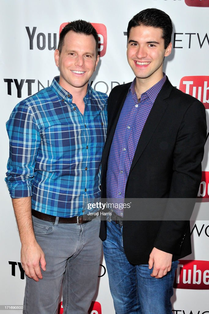 Dave Rubin and Raymond Braun arrive at YouTube and TYT Network Present the 1st Annual YouTube PRIDE Party Hosted By Dave Rubin at YouTube Space LA on June 27, 2013 in Los Angeles, California.