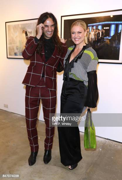 8bf9a2834f7 Dave Rudd and Camilla Kerslake attend the  A Front Row Seat  photography  exhibition by