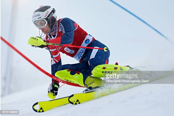 Dave Ryding of Great Britain competes during the Audi FIS Alpine Ski World Cup Men's Slalom on November 12 2017 in Levi Finland