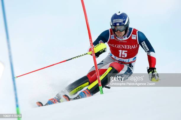 Dave Ryding of Great Britain in action during the Audi FIS Alpine Ski World Cup Men's Slalom on November 18 2018 in Levi Finland