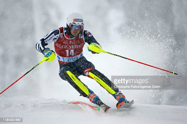 Dave Ryding of Great Britain in action during the Audi FIS Alpine Ski World Cup Men's Slalom on November 24 2019 in Levi Finland