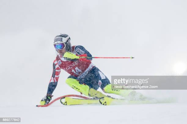 Dave Ryding of Great Britain in action during the Audi FIS Alpine Ski World Cup Men's Slalom on December 10 2017 in Vald'Isere France