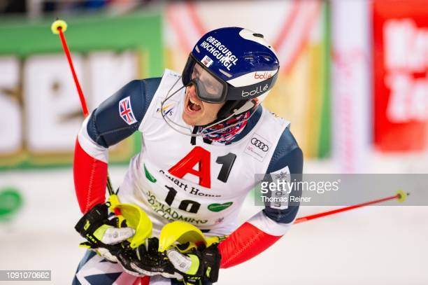 Dave Ryding of Great Britan competes at Audi FIS Alpine Ski World Cup - Men's Slalom Schladming on January 29, 2019 in SCHLADMING, Austria.