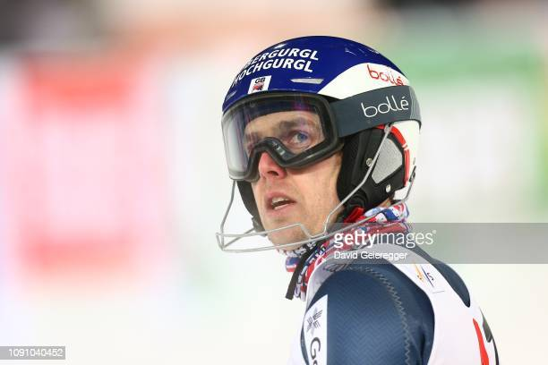 Dave Ryding of Great Britan during the second run of the AUDI FIS Alpine Ski World Cup Men's Slalom competition on January 29 2019 in Schladming...
