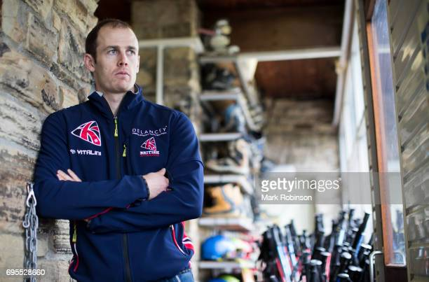 Dave Ryding of Team Great Britain at Pendle Ski Club on June 13 2017 in Burnley England