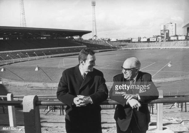 Dave Sexton chats with Charles Pratt chairman of Chelsea FC at Stamford Bridge 23rd October 1967 Sexton has just been appointed manager of Chelsea...