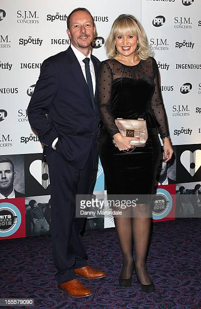Dave Shackleton and wife Nikki Chapman attend the Music Industry Trust Awards at The Grosvenor House Hotel on November 5 2012 in London England