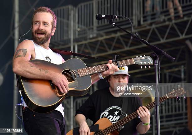Dave Simonett of Trampled by Turtles performs during the 2019 Bonnaroo Music Arts Festival on June 16 2019 in Manchester Tennessee