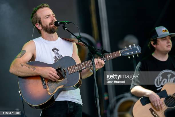 Dave Simonett of Trampled by Turtles performs during the Bonnaroo Music Arts Festival on June 16 2019 in Manchester Tennessee