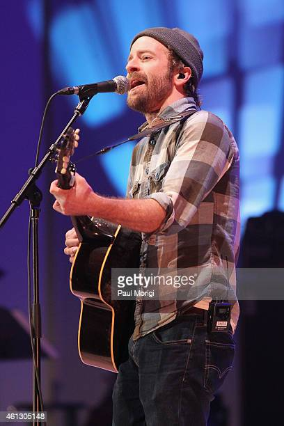 Dave Simonett of Trampled By Turtles performs on stage during The Life Songs of Emmylou Harris An All Star Concert Celebration at DAR Constitution...