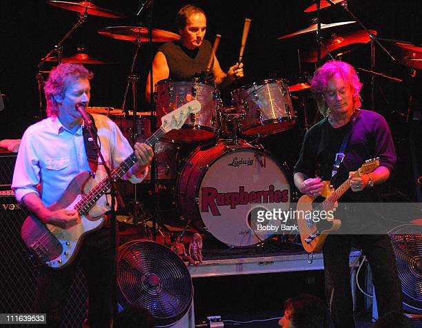 Dave Smalley Jim Bonfanti and Eric Carmen of Raspberries in concert at the Highline Ballroom on October 13 2007 in New York City