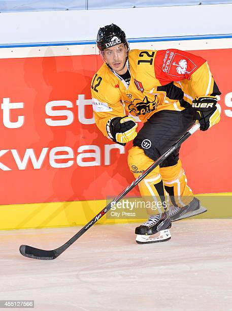 Dave Spina of SaiPa Lappeenranta in action during the Champions Hockey League game between ERC Ingolstadt and SaiPa Lappeenranta on august 23, 2014...