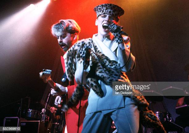 Dave Stewart and Annie Lennox of Eurythmics performing on stage London United Kingdom 1983
