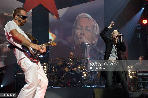 Dave Stewart and Annie Lennox of The Eurthymics during 33rd Annual American Music Awards Rehearsals Day 4 at Shrine Auditorium in Los Angeles...