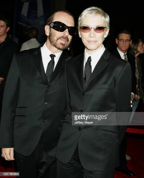 Dave Stewart and Annie Lennox of the Eurythmics during 33rd Annual American Music Awards Arrivals at Shrine Auditorium in Los Angeles California...