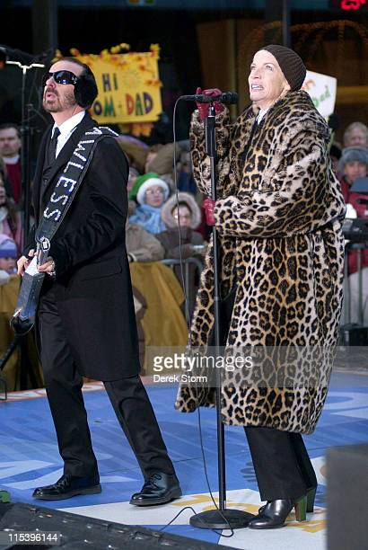Dave Stewart and Annie Lennox of the Eurythmics during Eurythmics Perform on the 2005 Today Show Holiday Concert Series at NBC Studios in New York...