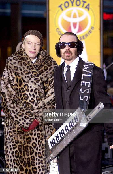 """Dave Stewart and Annie Lennox of the Eurythmics during Eurythmics Perform on the 2005 """"Today"""" Show Holiday Concert Series at NBC Studios in New York..."""