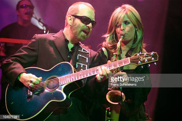 Dave Stewart and Candy Dulfer perform on stage at Paradiso on November 11 2002 in Amsterdam, Netherlands.
